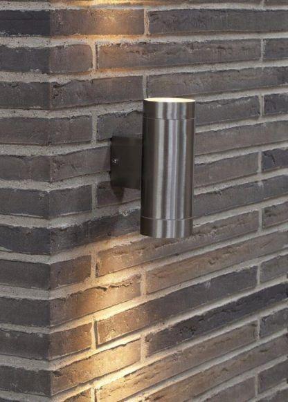 Kinkiet zewnętrzny Tin Maxi - Nordlux nad numer budynku
