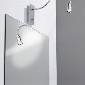 Kinkiet Zylindro nad lustro w przedpokoju