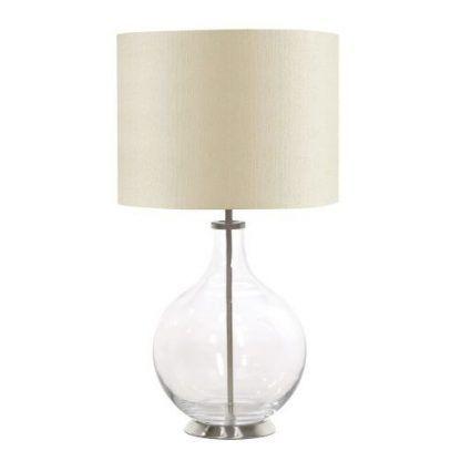 Klasyczna lampa stołowa Nadia na stolik w salonie