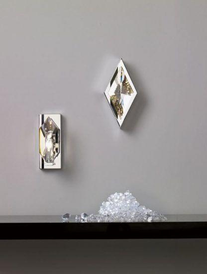 Kinkiet Crystal nad półkę w salonie