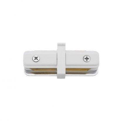 Łącznik prosty do szyny - profile straight connector - biały