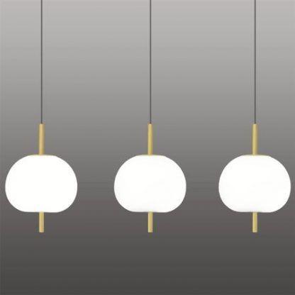 Lampa Apple nad długi stół do salonu