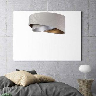 Lampa Galaxy welurowa do sypialni
