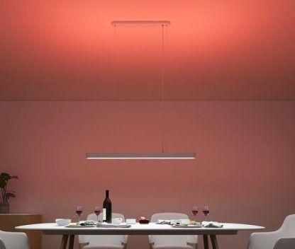 kolorowe światło do jadalni lampa smart