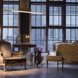 Lampa LED Organic do salonu - podłużna