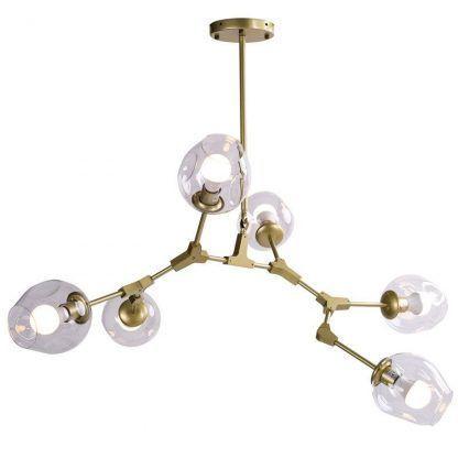 Lampa Modern Orchid - szklana nad stół do jadalni
