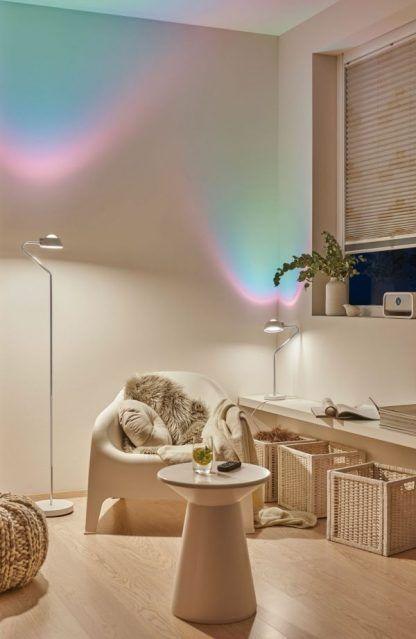 Salon - Lampa podłogowa Ramos LED - minimalistyczna