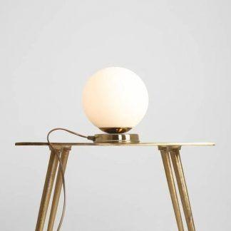 Lampa stołowa Ball do salonu na kominek