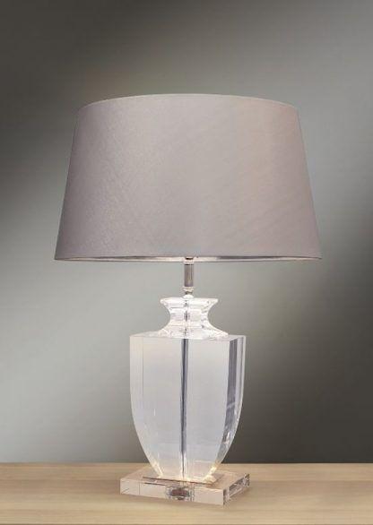 Lampa stołowa Crystal Block na stolik w salonie
