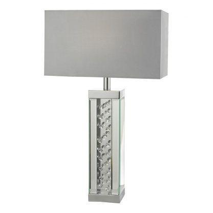 Lampa stołowa Itala na kominek w salonie