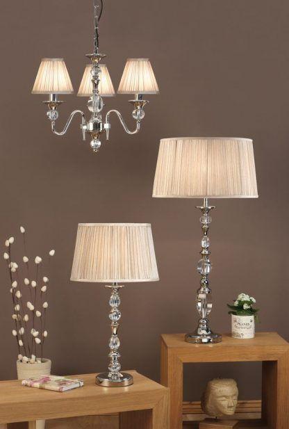 Lampa stołowa Polina do pięknej sypialni