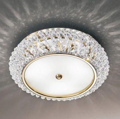 Lampa sufitowa CARLA Pure Crystal do sypialni i salonu