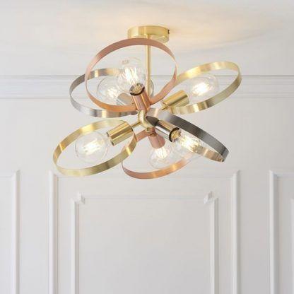Lampa sufitowa Hoop do pokoju dziennego