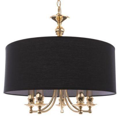 Lampa wisząca Abu Dhabi nad sofą w salonie
