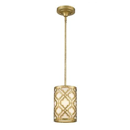 Lampa wisząca Arabella nad stolik w sypialni