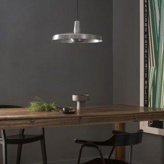Lampa wisząca Arigato Large srebrna nad stół