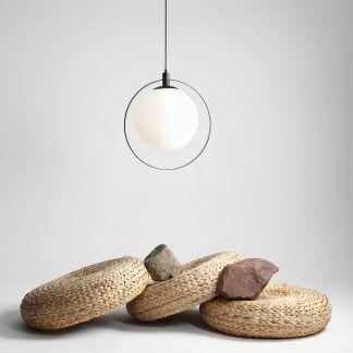 Lampa wisząca Aura - biała kula