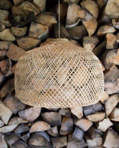 bambusowa lampa boho