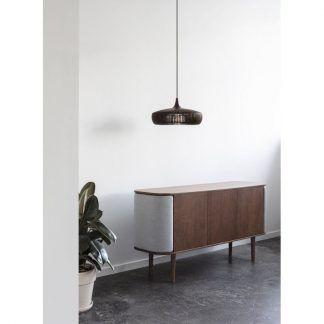 Lampa wisząca Clava Dine Wood nad komodę w sypialni