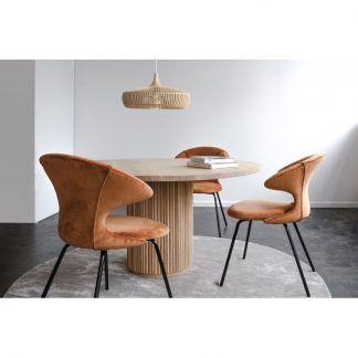 Lampa wisząca Clava Dine Wood nad stół w jadalni