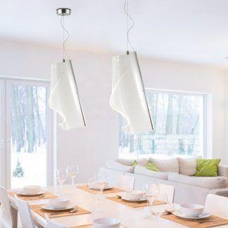 Lampa wisząca Cortina No.1 do nowoczesnej jadalni