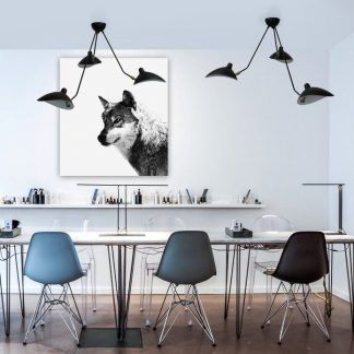 Lampa wisząca Crane do salonu lub jadalni