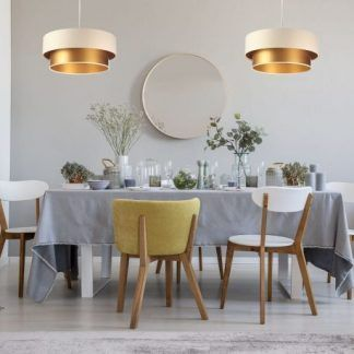 Lampa wisząca Duo do pięknej sypialni lub jadalni