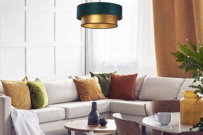 Lampa wisząca Duo nad kanapę w salonie