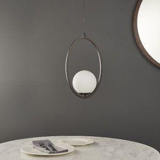 Lampa wisząca Eden nad stolik w małym salonie
