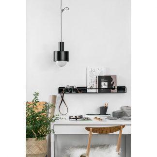 Lampa wisząca Enkel nad biurko w gabinecie