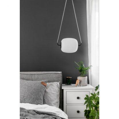 Lampa wisząca Epli nad szafkę nocną w sypialni