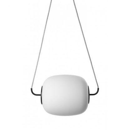przód - Lampa wisząca Epli nad szafkę nocną w sypialni