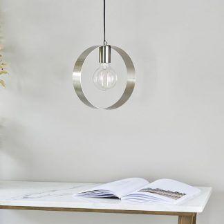 Lampa wisząca Hoop do stylowej sypialni i salonu