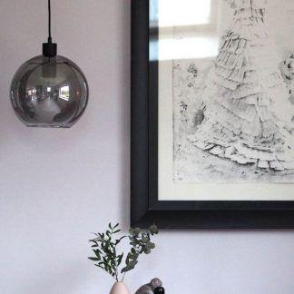 Lampa wisząca Kyoto Round do skandynawskiej sypialni