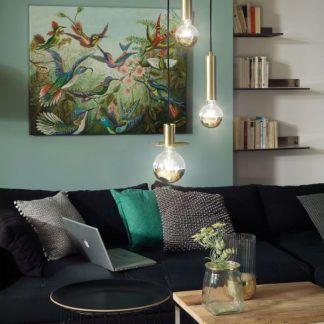 Lampa wisząca Stian nad stolik w salonie