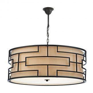 Lampa wisząca Tumola nad stół w salonie
