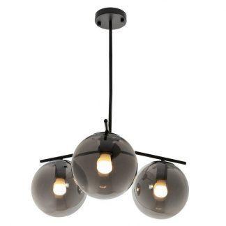 Lampa wisząca Venus nad sofę w salonie