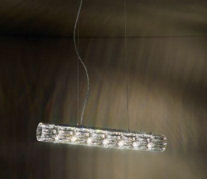 Lampa wisząca Verve Swarovski nad stolik w salonie
