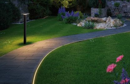 Słupek ogrodowy Plate do oświetlenia podjazdu