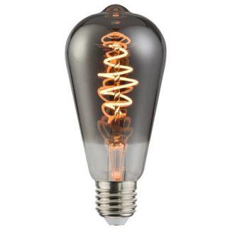 Szara żarówka LED - E27, spirala