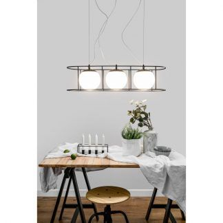 Lampa wisząca Kuglo nad duży stół w jadalni