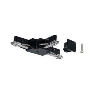 Złącze URail - T-connector, czarne, system szynowy