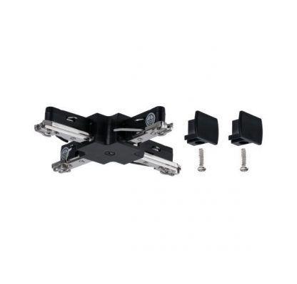 Złącze URail - X-connector, czarne, system szynowy