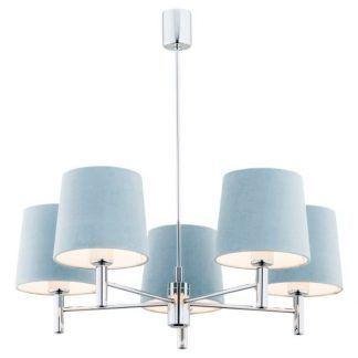 Żyrandol Bolanzo nad szklany stół w salonie