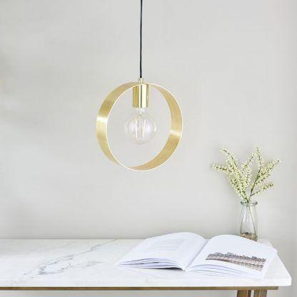 lampa wisząca do biura złota