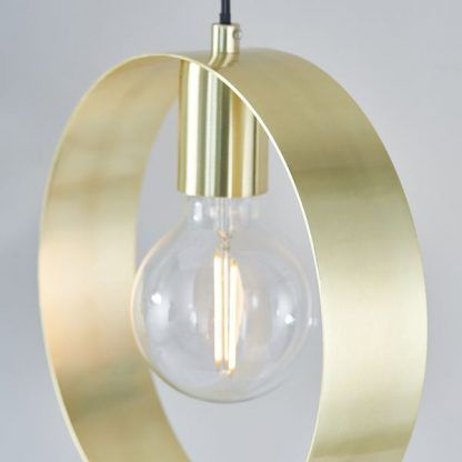 złota lampa wisząca